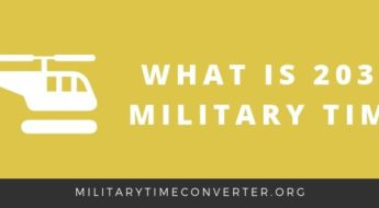 What time is 2030 military time?