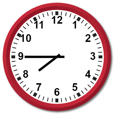 Expressing 1945 Hours Military Time on the Analog Clock