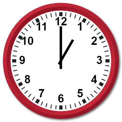 0100 Hours Military Time on the Analog Clock