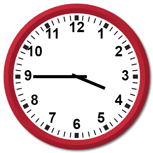 0345 Hours Military Time on the Analog Clock