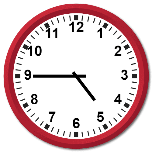 0445 Hours Military Time on the Analog Clock