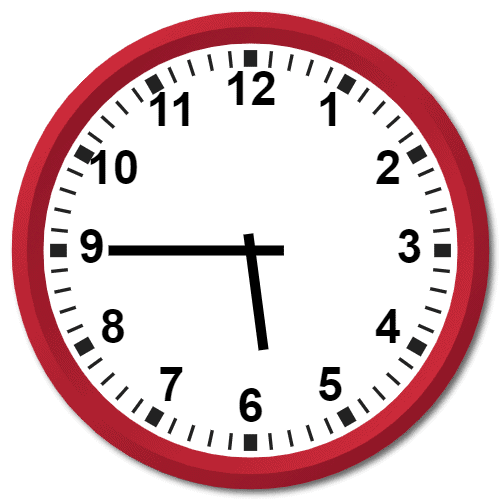 0545 Hours Military Time on the Analog Clock