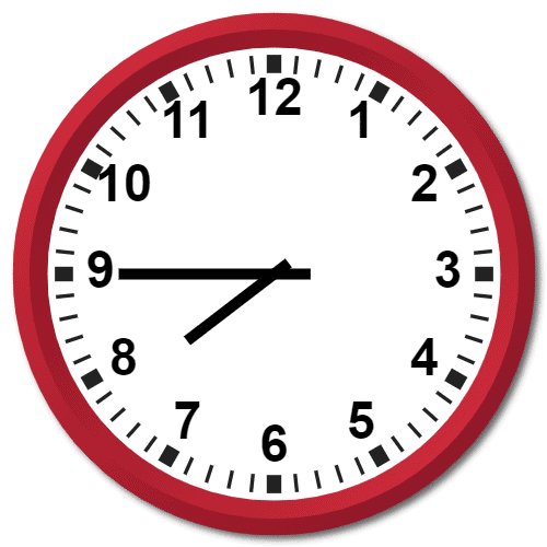 0745 Hours Military Time on the Analog Clock