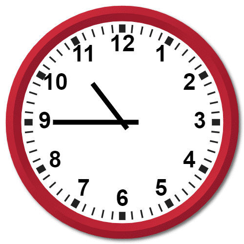 1045 Hours Military Time on the Analog Clock