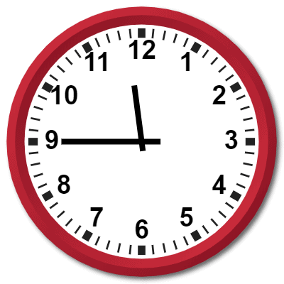1145 hours military time on analog clock