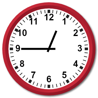 1245 hours military time on analog clock