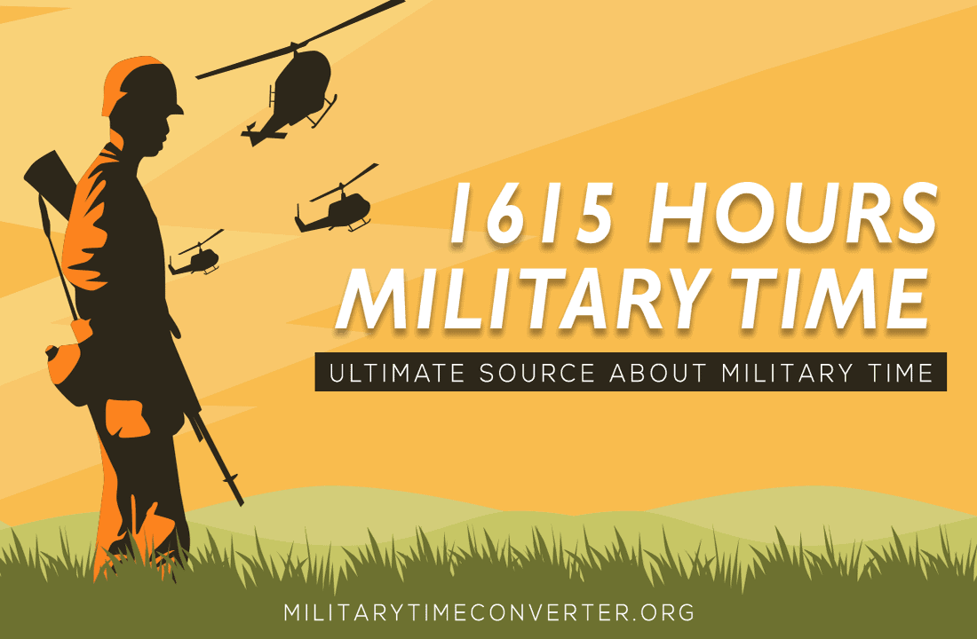 1615 hours military time conversion