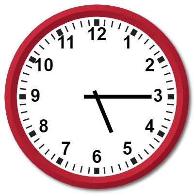 1715 Hours Military Time on the Analog Clock