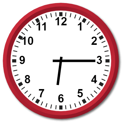 1815 Hours Military Time on the Analog Clock