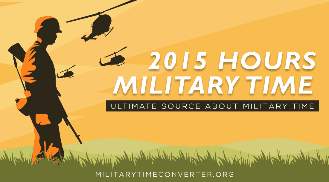 What time is 2015 Military Time