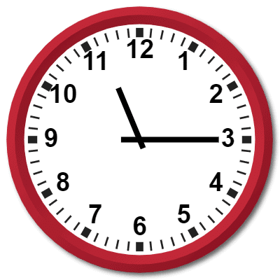 2315 Hours Military Time on the Analog Clock