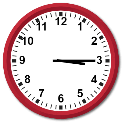 1515 Hours Military Time on the Analog Clock